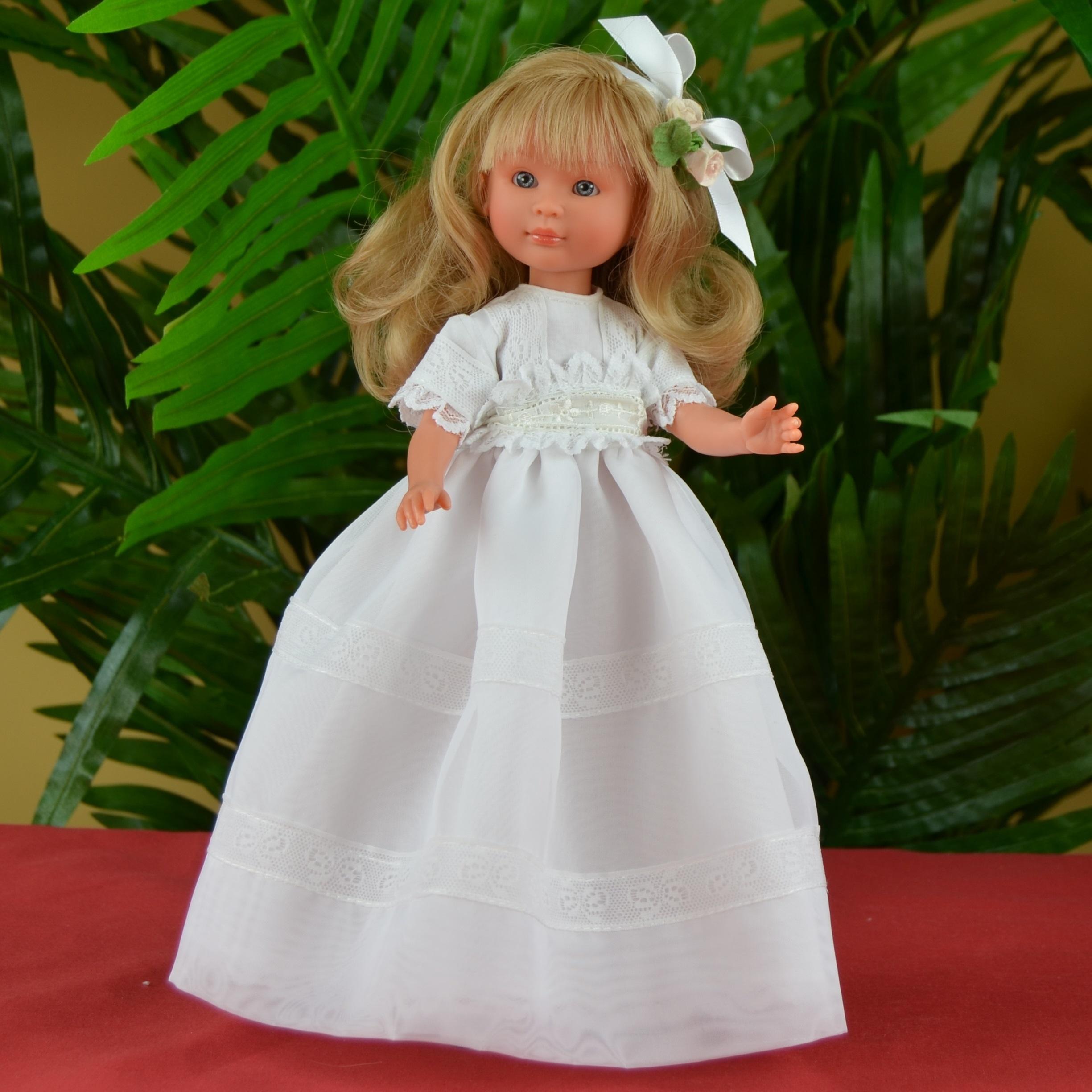 Кукла Селия в белом платье, 30 см.Куклы ASI (Испания)<br>Кукла Селия в белом платье, 30 см.<br>