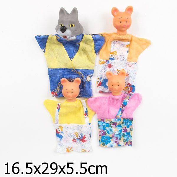 Кукольный театр - Три поросенка, 4 персонажаДетский кукольный театр <br>Кукольный театр - Три поросенка, 4 персонажа<br>