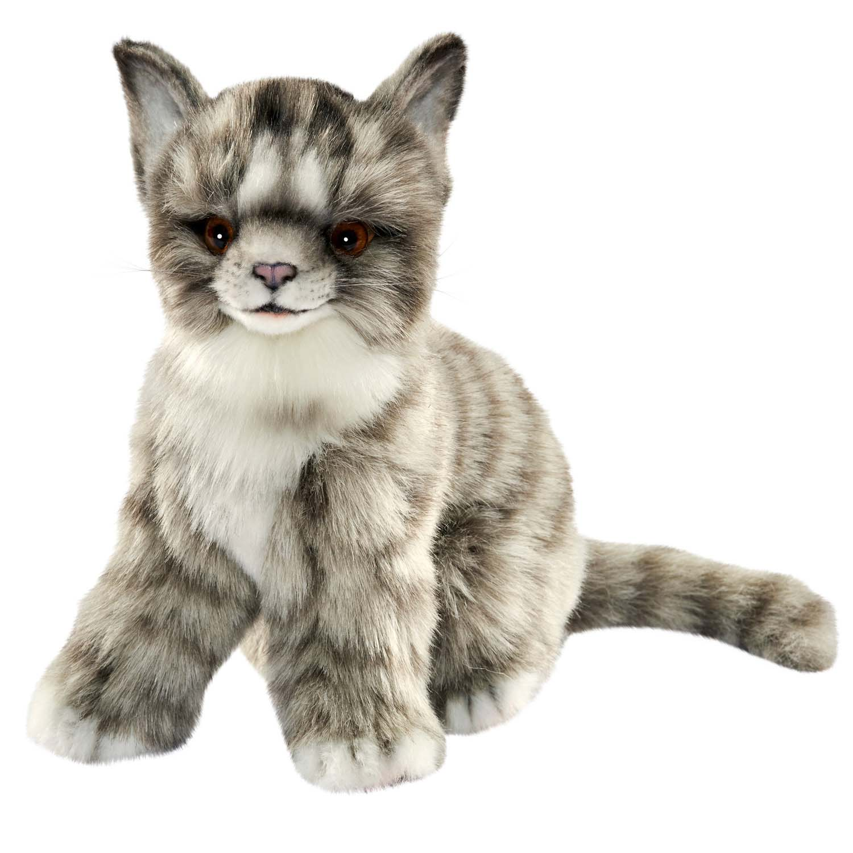 Купить Мягкая игрушка – Котенок, серый, 19 см, Hansa