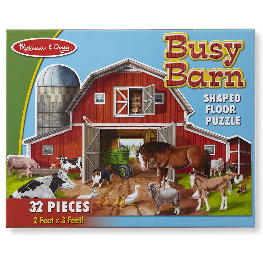 Купить Напольный пазл - Ферма, 32 детали, Melissa&Doug