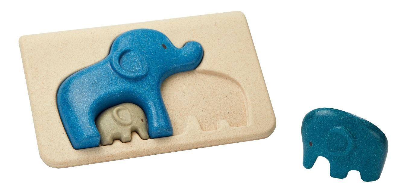Купить Пазл – Слоники, деревянный, Plan Toys