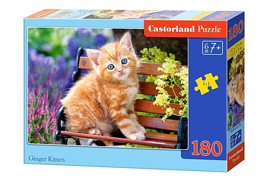 Купить Пазлы Castorland - Рыжий котенок, 180 элементов