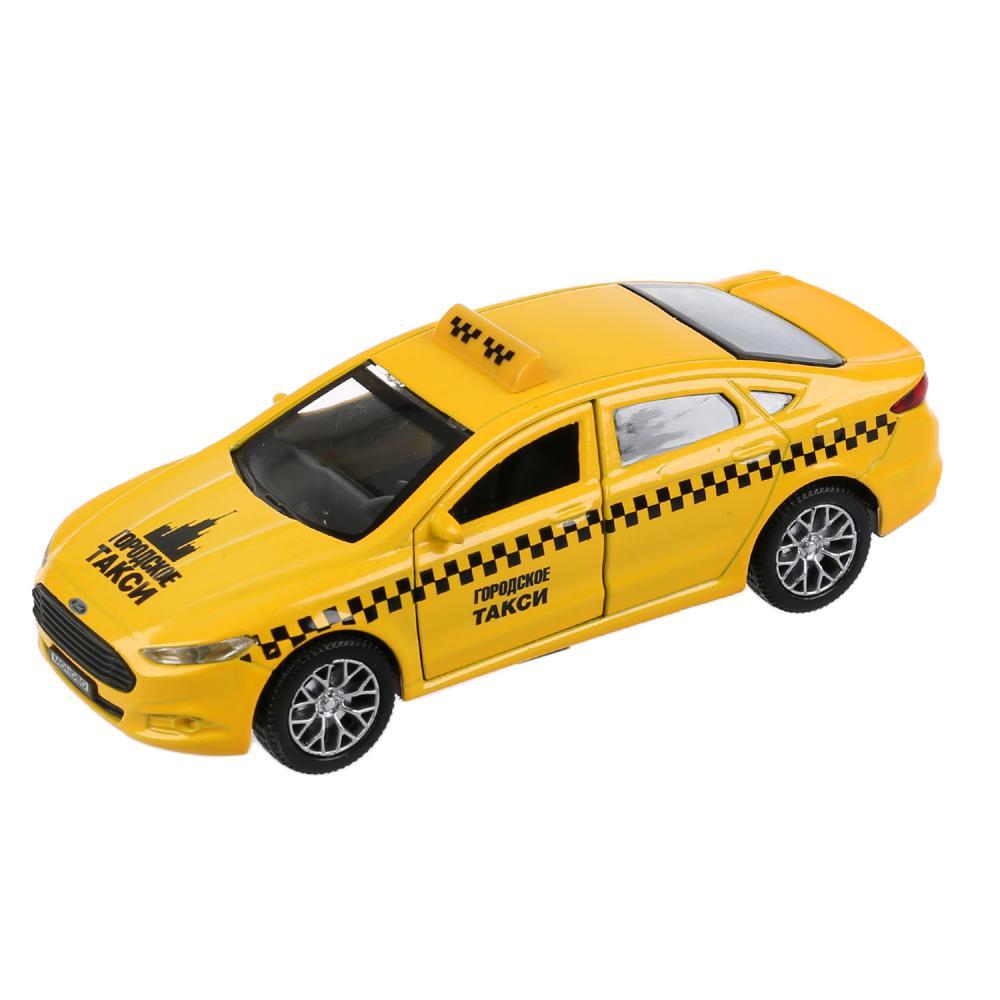 Купить Машина металлическая Ford Mondeo Такси, 12 см, открываются двери и багажник, инерционная, Технопарк