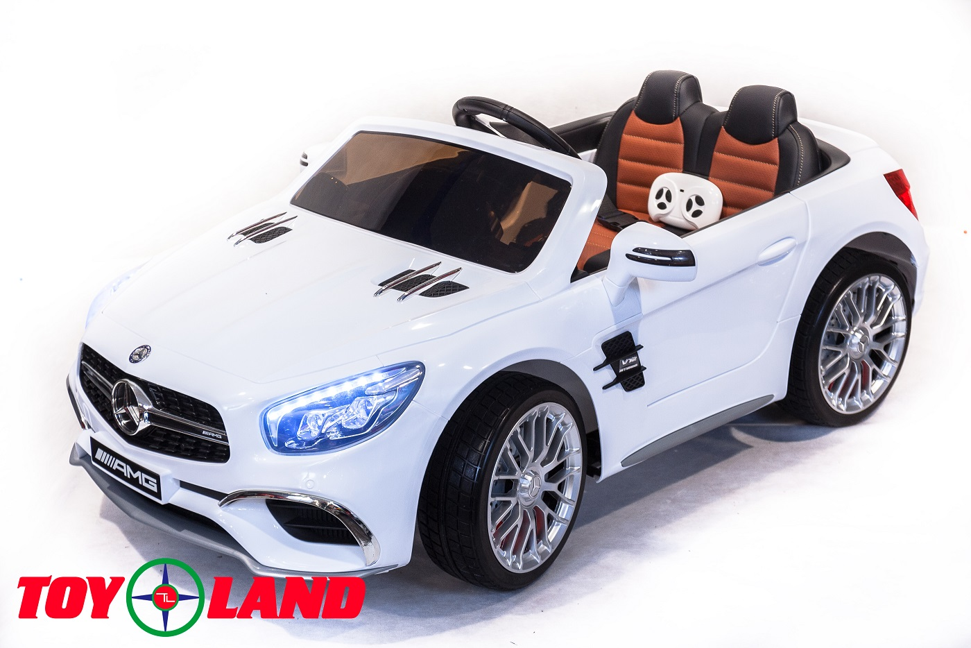 Электромобиль Mercedes-Benz SL65, цвет – белыйЭлектромобили, детские машины на аккумуляторе<br>Электромобиль Mercedes-Benz SL65, цвет – белый<br>