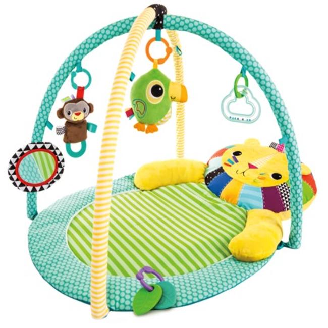 Развивающий коврик для малыша Bright Starts ЛьвёнокДетские развивающие коврики для новорожденных<br>Развивающий коврик для малыша Bright Starts Львёнок<br>
