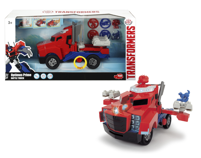 Боевой трейлер Optimus Prime из серии Трансформеры, со светом и звуком, 23 см.Игрушки трансформеры<br>Боевой трейлер Optimus Prime из серии Трансформеры, со светом и звуком, 23 см.<br>