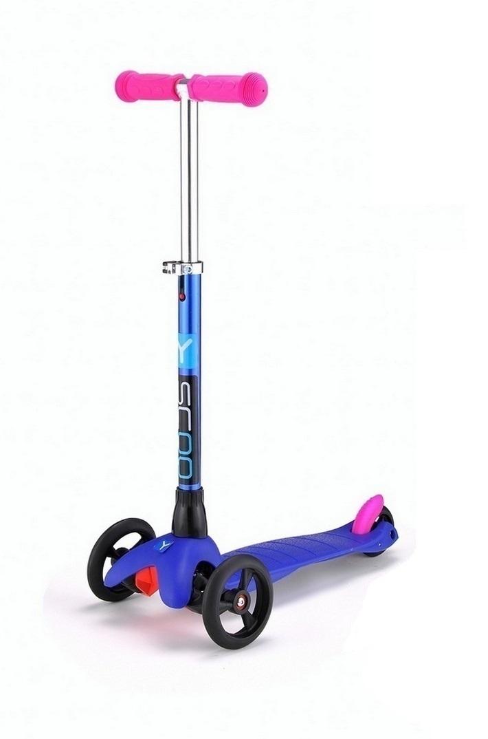 Трехколесный самокат Mini Glam Metallic dark blue Y-Scoo, 4078RTТрехколесные самокаты<br>Трехколесный самокат Mini Glam Metallic dark blue Y-Scoo, 4078RT<br>
