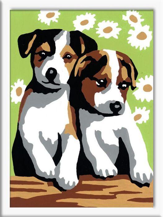 Раскрашивание по номерам – Забавные щенкиРаскраски по номерам Schipper<br>Раскрашивание по номерам – Забавные щенки<br>
