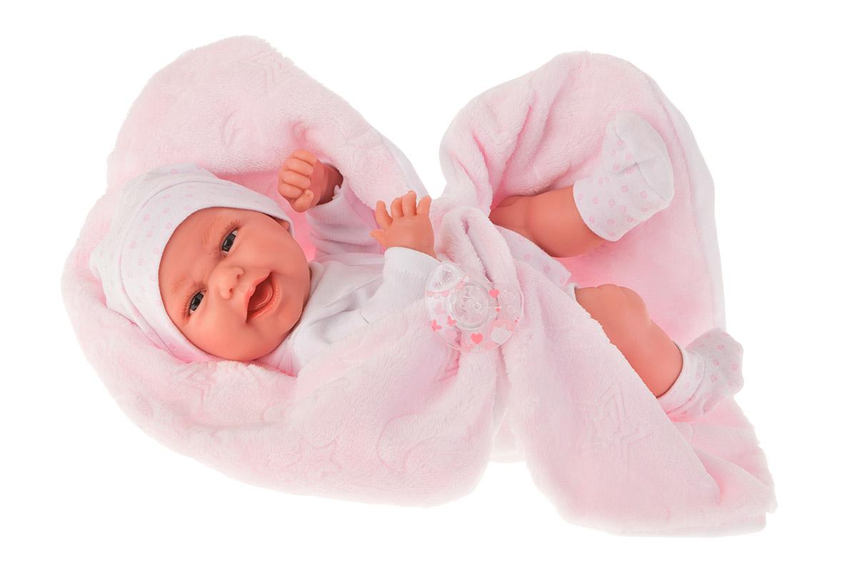 Купить Кукла-младенец Фатима на розовом одеяльце, 33 см., Antonio Juan Munecas