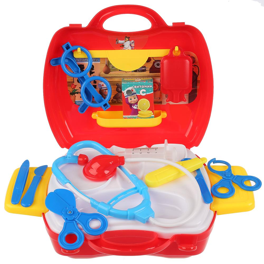 Купить Набор доктора Маша и Медведь, 19 предметов в чемодане, Играем вместе