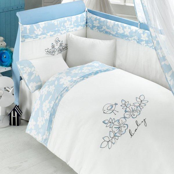 Комплект постельного белья и спальных принадлежностей из 6 предметов серии Baby BirdieДетское постельное белье<br>Комплект постельного белья и спальных принадлежностей из 6 предметов серии Baby Birdie<br>