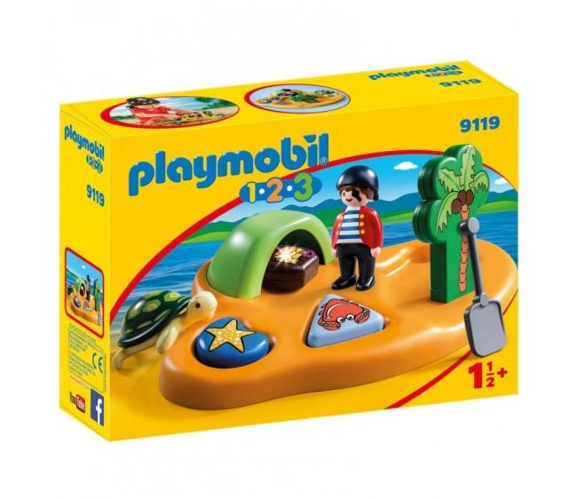 Купить Игровой набор из серии 1.2.3.: Пиратский остров, от 1, 5 лет, Playmobil
