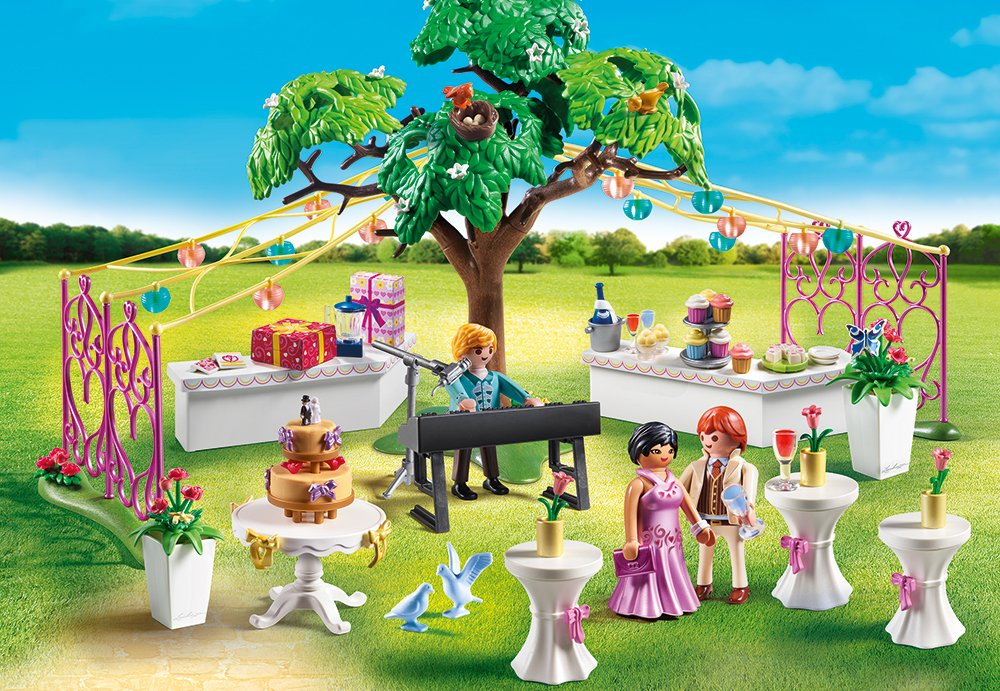 Купить Игровой набор - Стол для росписи новобрачных, Playmobil