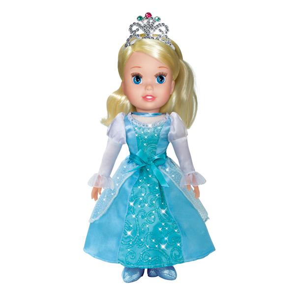 Кукла Принцесса Золушка Дисней, 30 см., озвученная, с мягким теломМягкие куклы<br>Кукла Принцесса Золушка Дисней, 30 см., озвученная, с мягким телом<br>