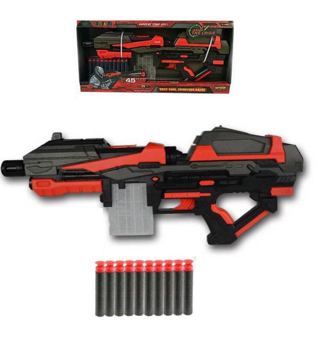 Бластер, в наборе с 10 мягкими снарядамиАвтоматы, пистолеты, бластеры<br>Бластер, в наборе с 10 мягкими снарядами<br>