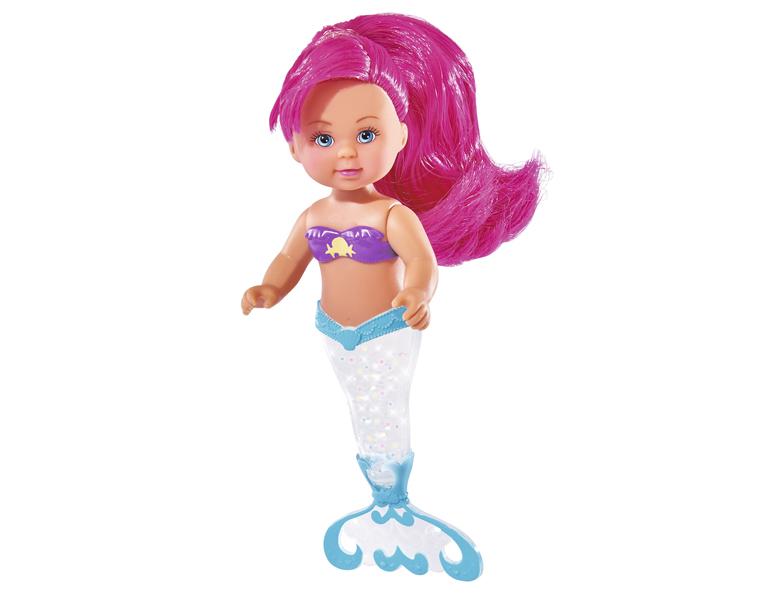 Кукла Еви русалка с блестящим хвостом, 12 см.Куклы Еви<br>Кукла Еви русалка с блестящим хвостом, 12 см.<br>