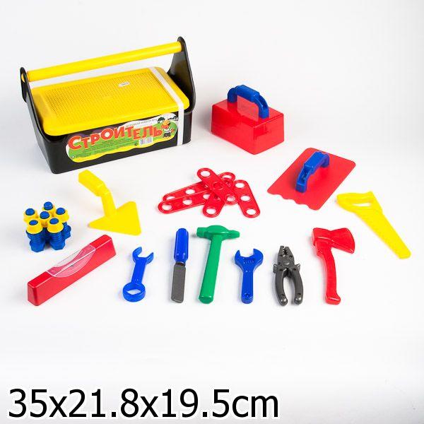 Игровой набор - Строитель №4, в ящикеДетские мастерские, инструменты<br>Игровой набор - Строитель №4, в ящике<br>