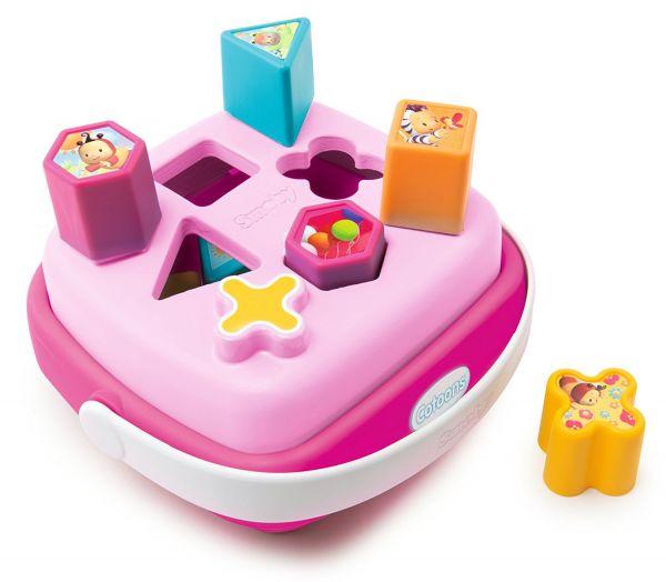 Сортер-корзинка Cotoons, розовыйРазвивающие игрушки Smoby Cotoons<br>Сортер-корзинка Cotoons, розовый<br>