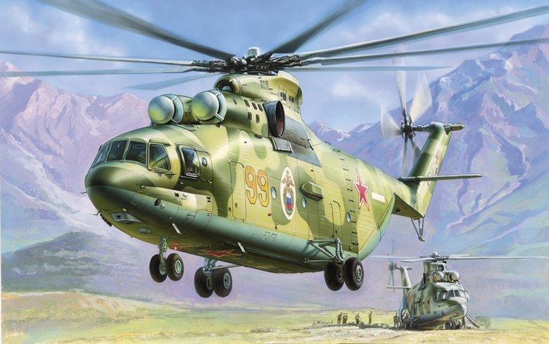 Модель для склеивания  Российский тяжелый вертолет Ми-26 - Модели для склеивания, артикул: 98714