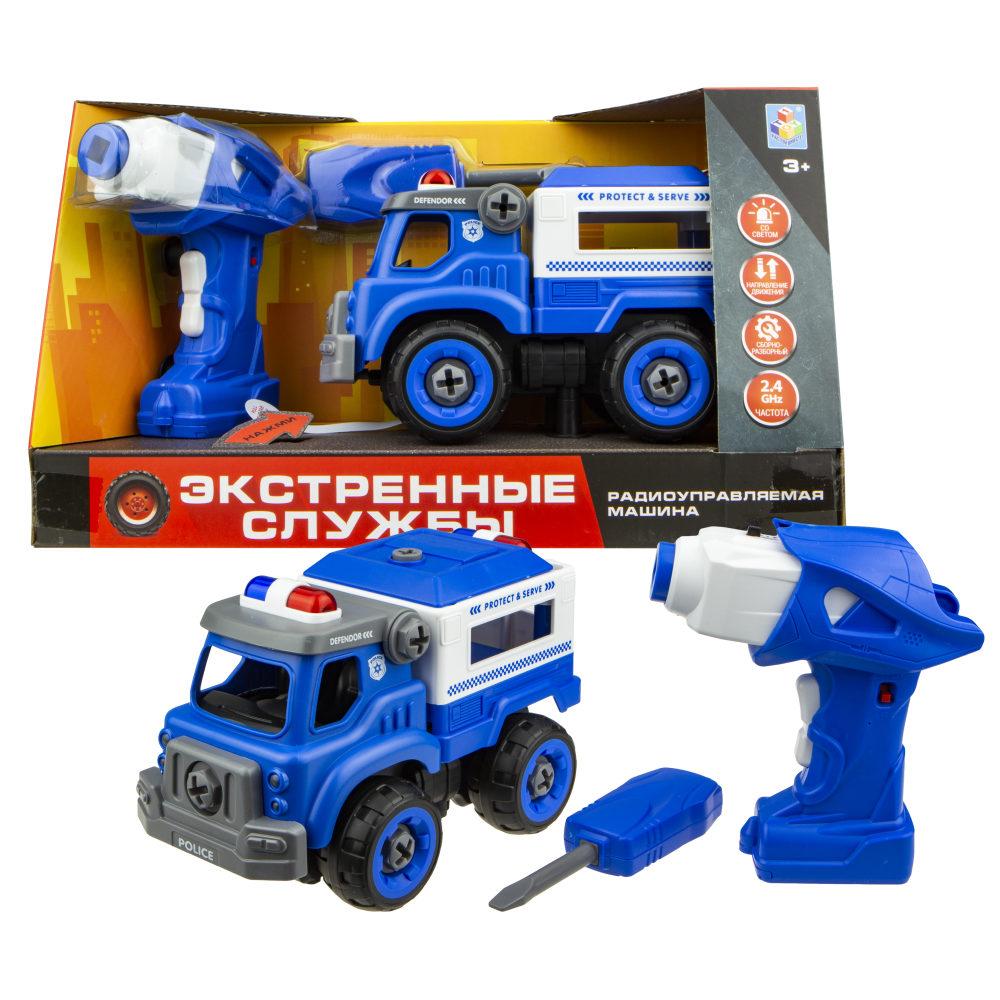 картинка Разборная модель - Экстренные службы - Полицейский грузовик на р/у, 18 см, 2,4ГГц от магазина Bebikam.ru