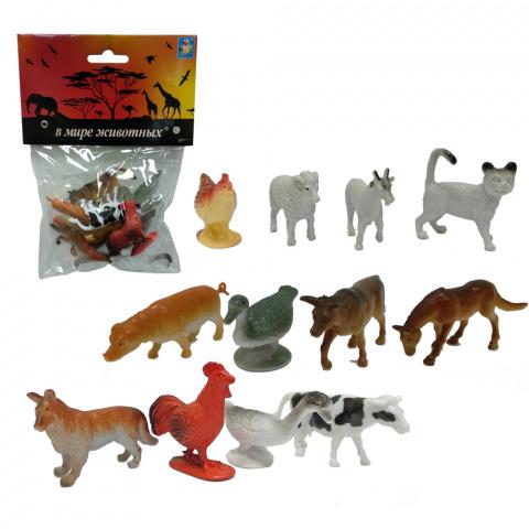 Набор В мире животных – Животные с фермы, 12 штук, 1TOY  - купить со скидкой