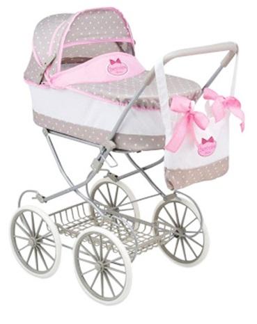 Купить Bambolina Boutique - Большая классическая коляска для куклы с сумкой, DIMIAN