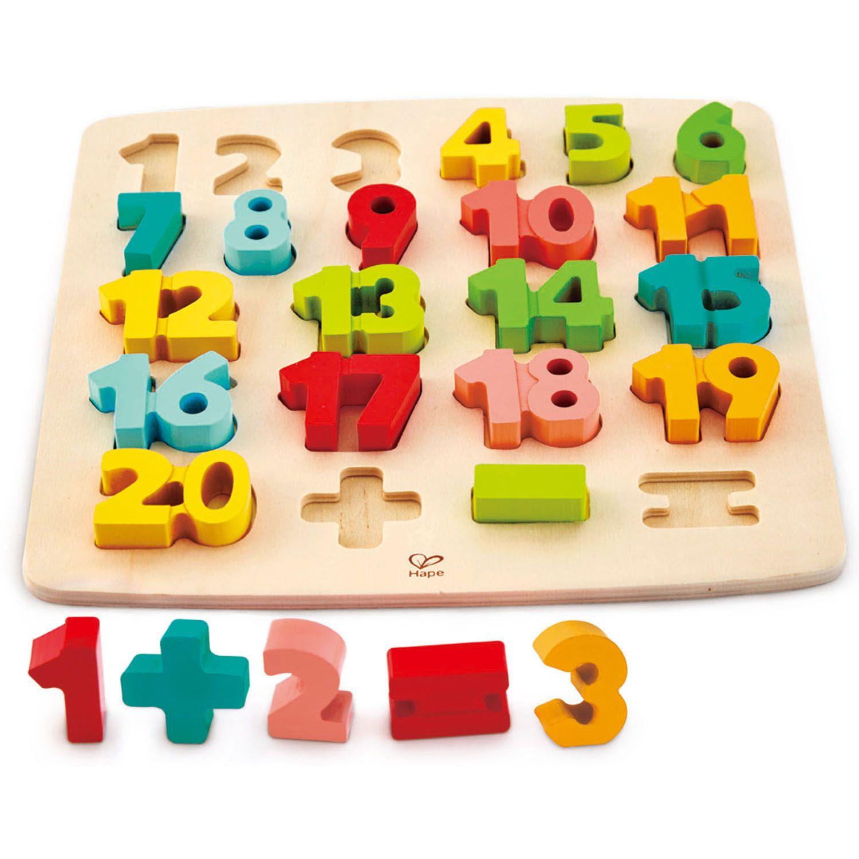 Головоломка-мозаика деревянная Математическая