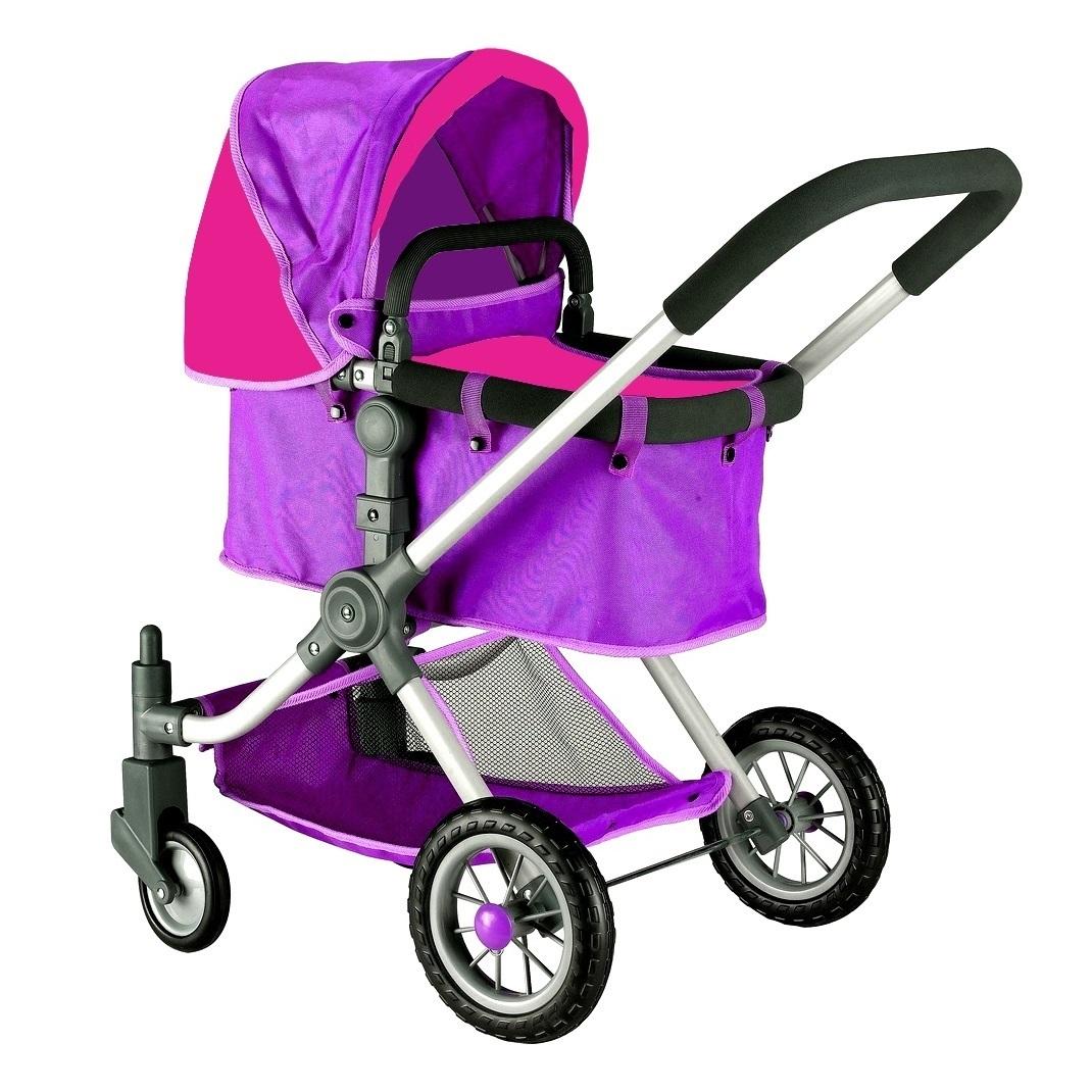 Кукольная коляска, цвет фиолетовый и фуксияКоляски для кукол<br>Кукольная коляска, цвет фиолетовый и фуксия<br>