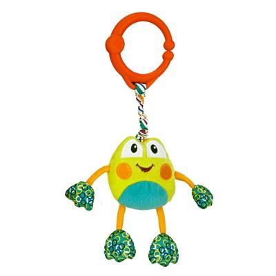 Развивающая игрушка  Дрожащий дружок , Лягушка - Детские погремушки и подвесные игрушки на кроватку, артикул: 97345