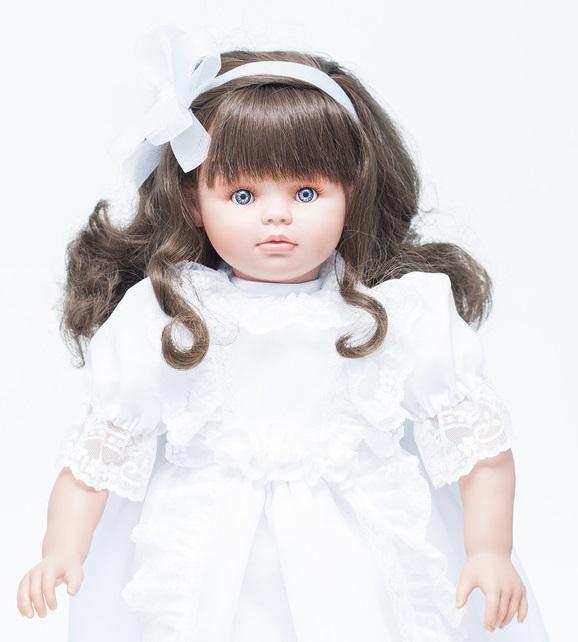 Кукла Пепа в белом кружевном платье, 60 см.Куклы ASI (Испания)<br>Кукла Пепа в белом кружевном платье, 60 см.<br>