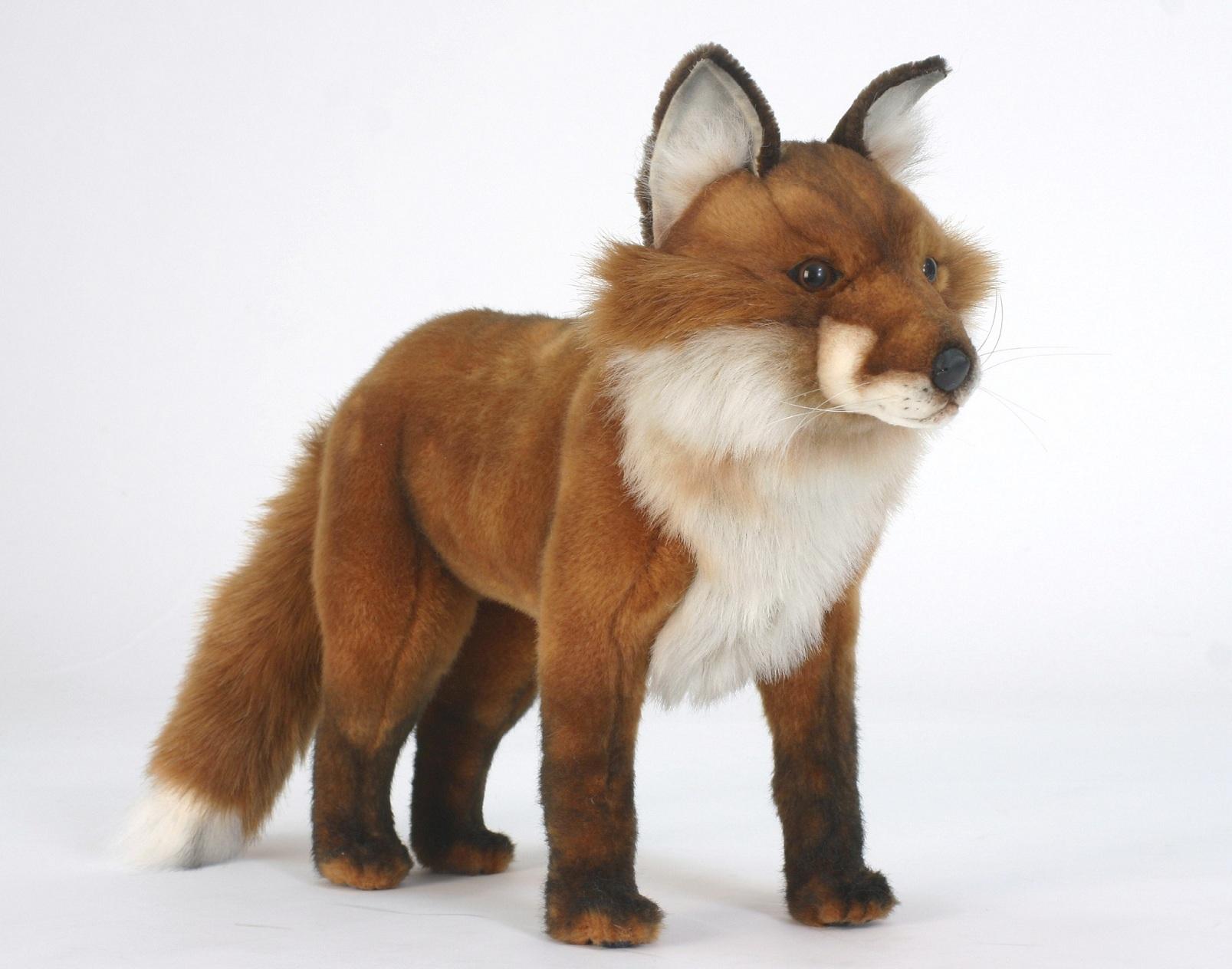 Рыжая лиса, стоячая, 56 смБольшие игрушки (от 50 см)<br>Рыжая лиса, стоячая, 56 см<br>