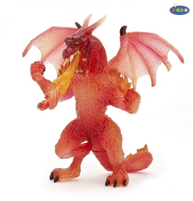 Игровая фигурка - Дракон огненный, прозрачныйМифические существа<br>Игровая фигурка - Дракон огненный, прозрачный<br>