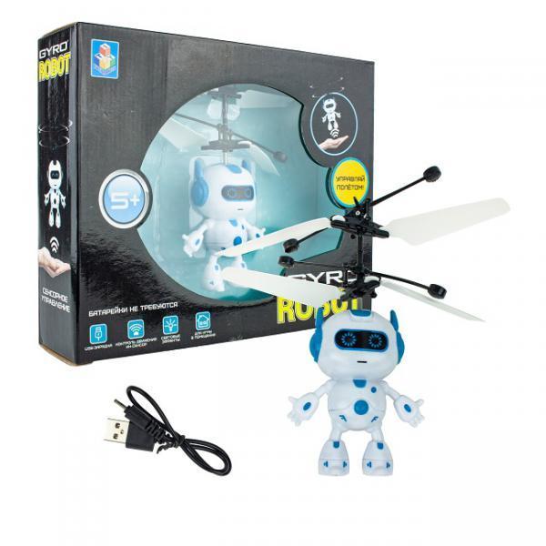 Игрушка на сенсорном управлении Gyro-Robot, со светом, акб, коробка фото