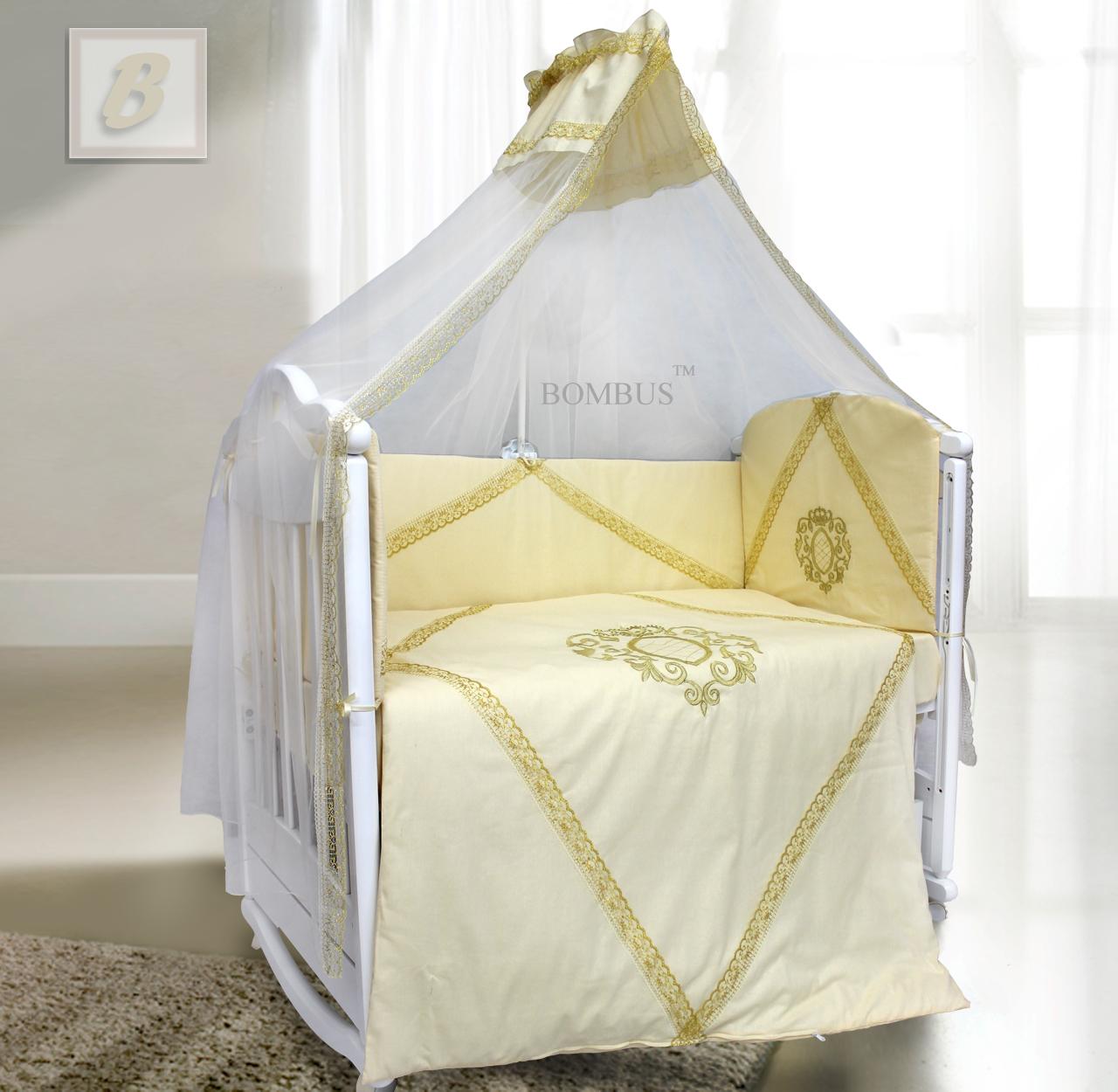 Комплект в кроватку - Виконт, 7 предметовДетское постельное белье<br>Комплект в кроватку - Виконт, 7 предметов<br>