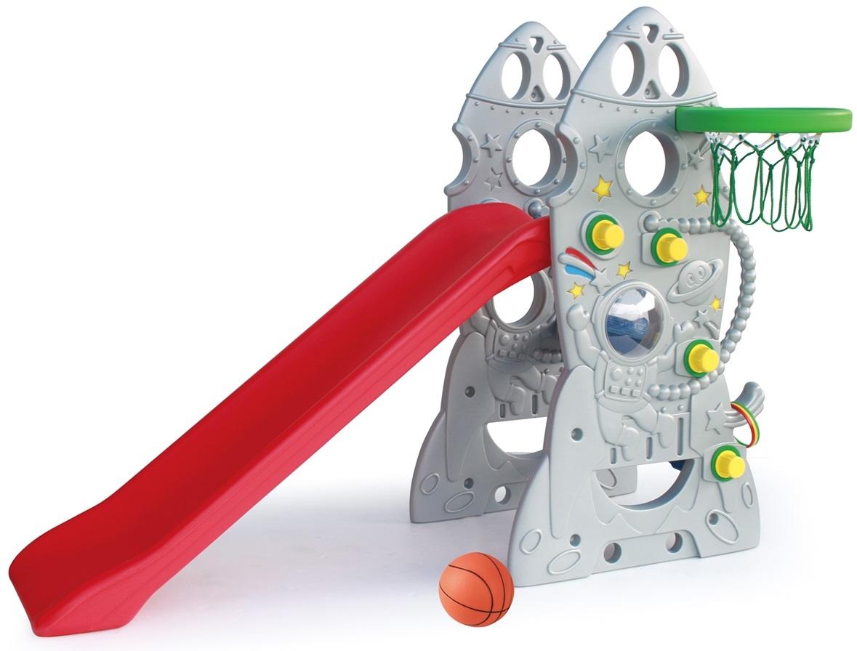 Горка Ракета с баскетбольным кольцом
