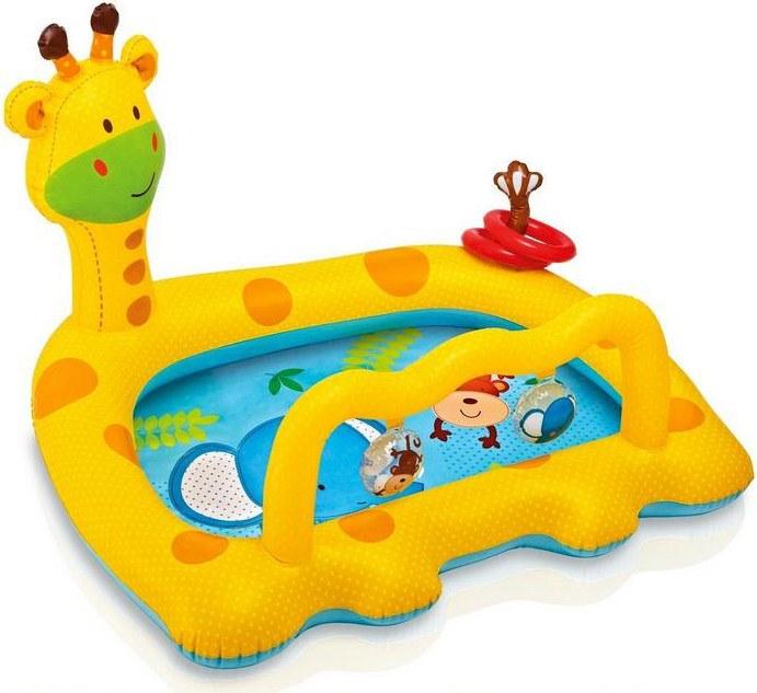 Бассейн для малышей «Жираф» с погремушками и колечкамиДетские надувные бассейны<br>Бассейн для малышей «Жираф» с погремушками и колечками<br>