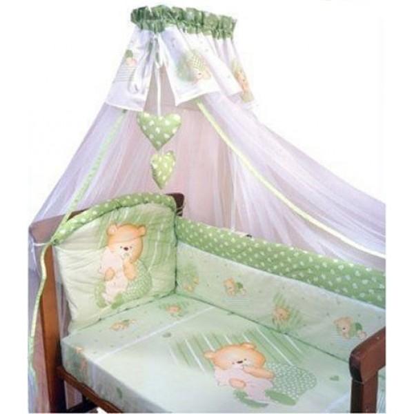 Комплект – Мишутка, зеленыйДетское постельное белье<br>Комплект – Мишутка, зеленый<br>