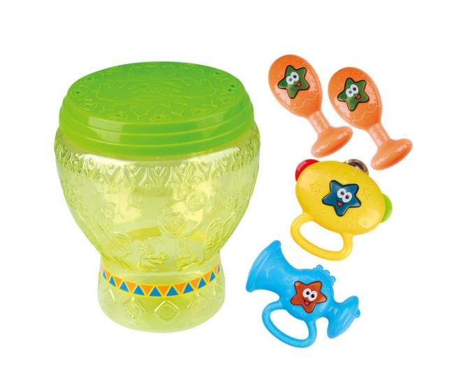 Набор игрушек в барабанеМузыкальные наборы<br>Набор игрушек в барабане<br>
