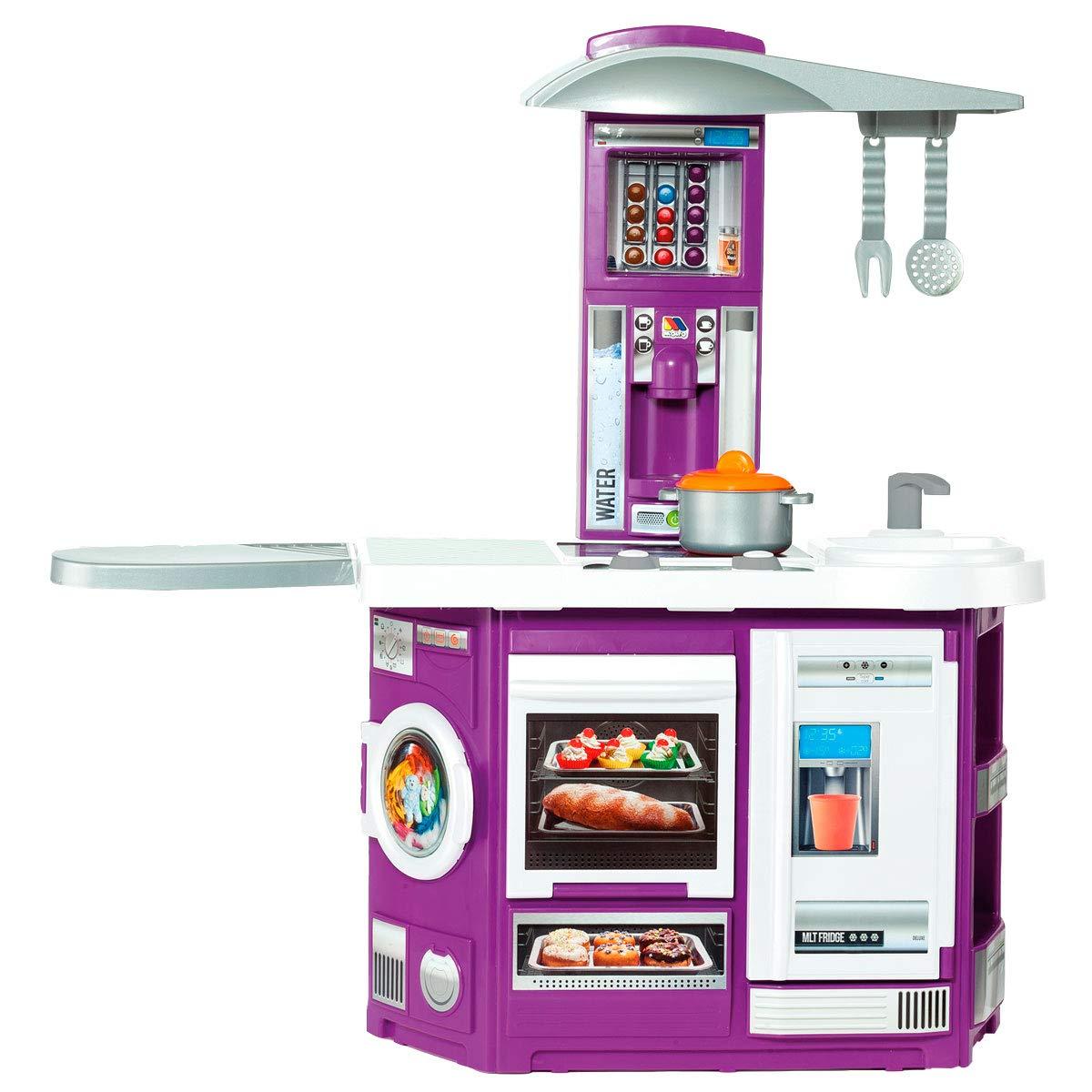 Купить Детская игровая кухня Molto, озвученная, 13 предметов