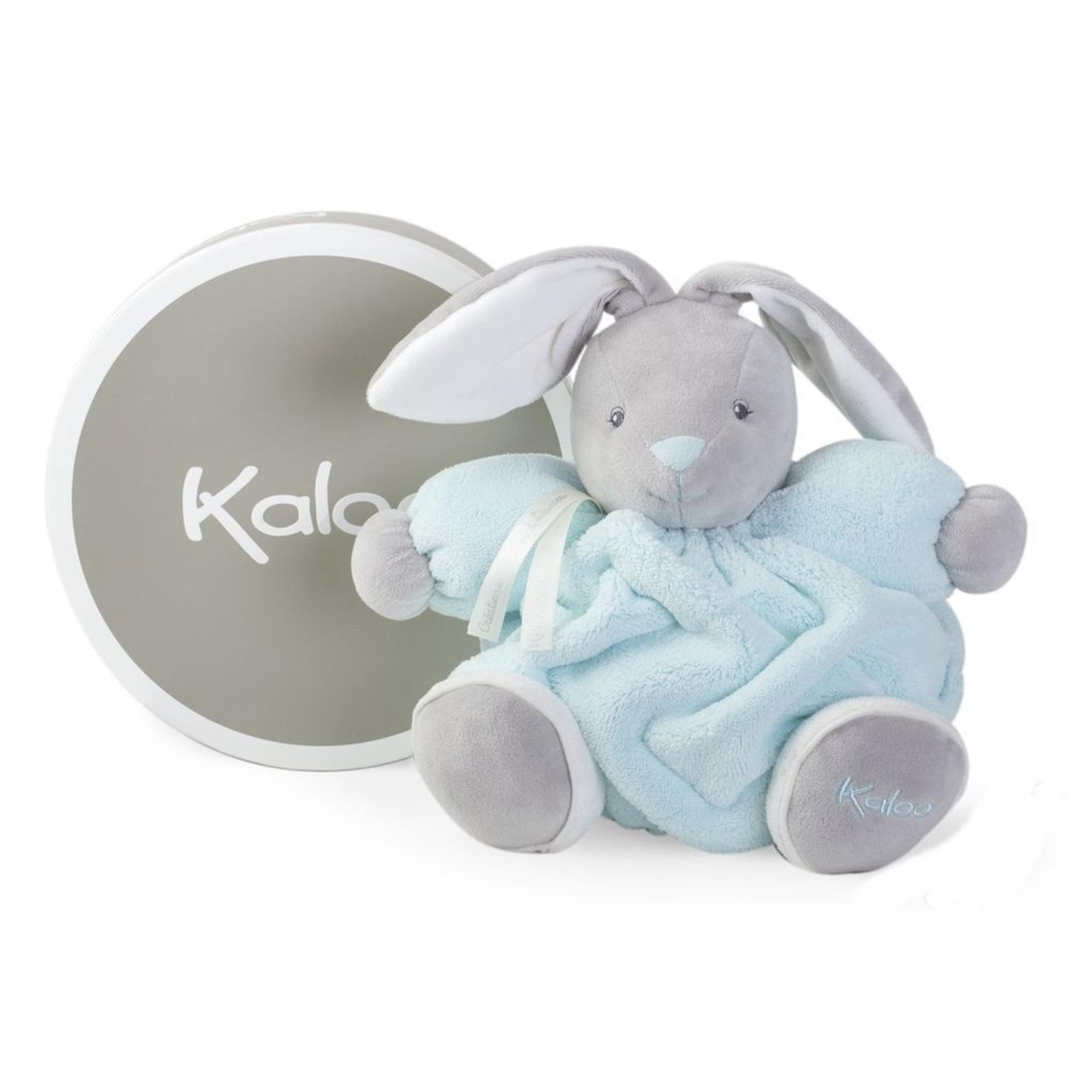 Купить Мягкая игрушка из серии Плюм - зайчик средний синий, 25 см., Kaloo