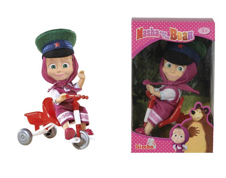 Маша в фуражке с велосипедом - Маша и медведь игрушки, артикул: 126711