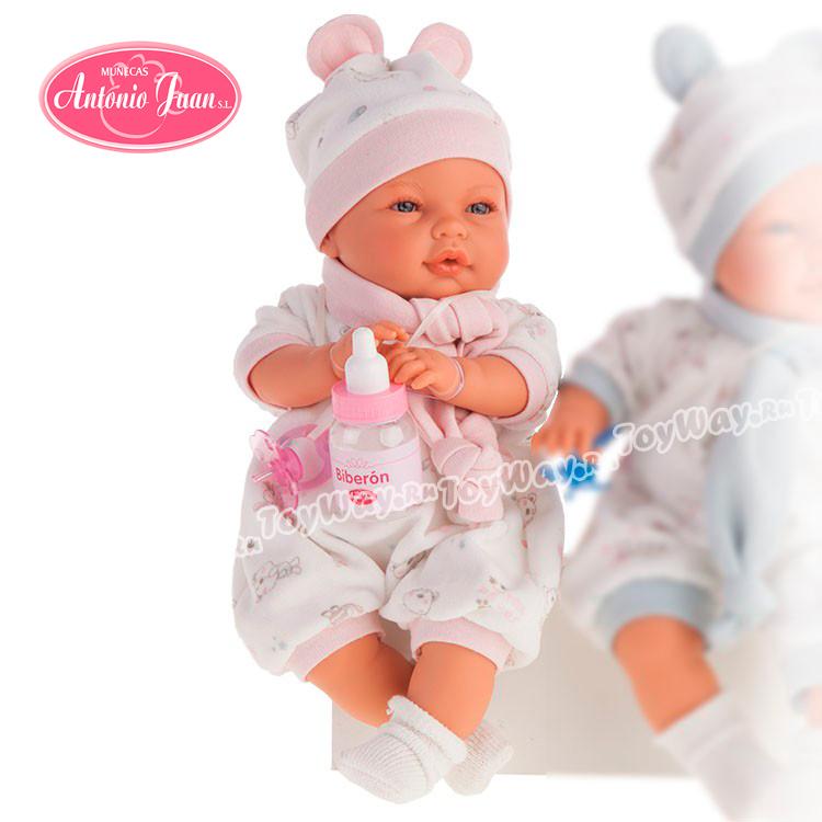 Кукла София c аксессуарами, в розовом, 37см.Куклы Антонио Хуан (Antonio Juan Munecas)<br>Кукла София c аксессуарами, в розовом, 37см.<br>