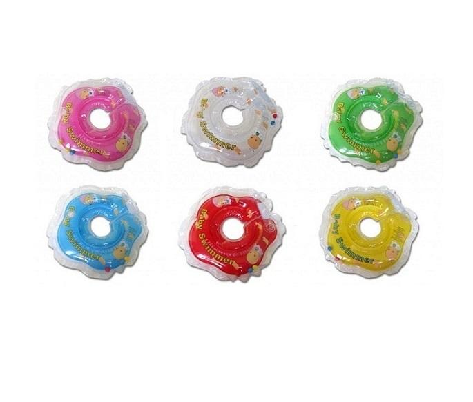 Круг на шею для купания ребенка от 3 до 12 кг, полуцвет, с погремушкойЗащита<br>Круг на шею для купания ребенка от 3 до 12 кг, полуцвет, с погремушкой<br>