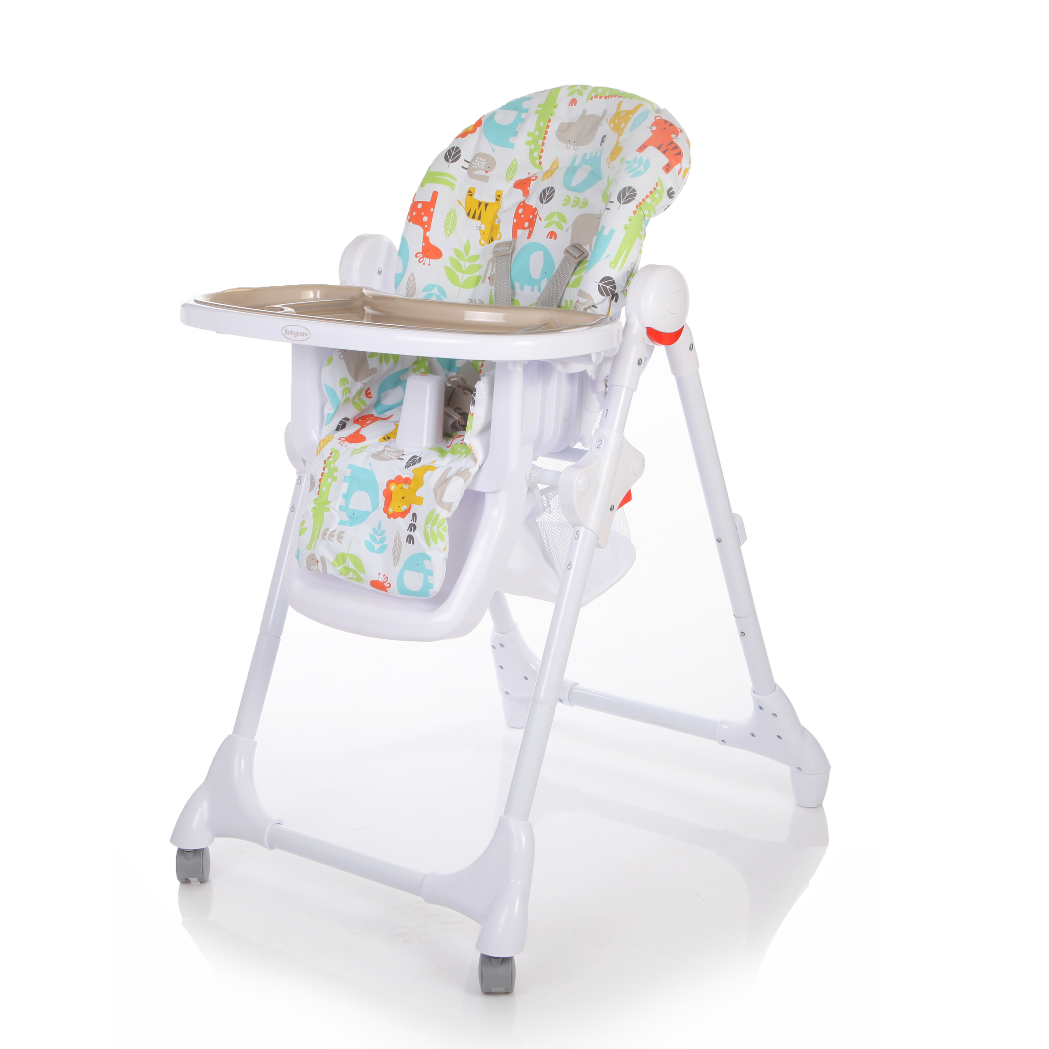 Детский стульчик для кормления Baby Care – Fiesta, серый