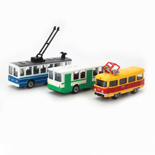 Модель городского транспортаАвтобусы, трамваи<br>Модель городского транспорта<br>