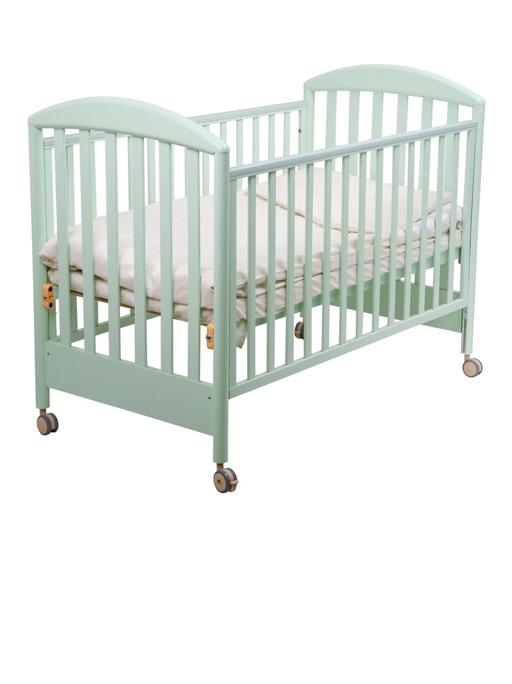 Детская кроватка Санта, салатоваяДетские кровати и мягкая мебель<br>Детская кроватка Санта, салатовая<br>