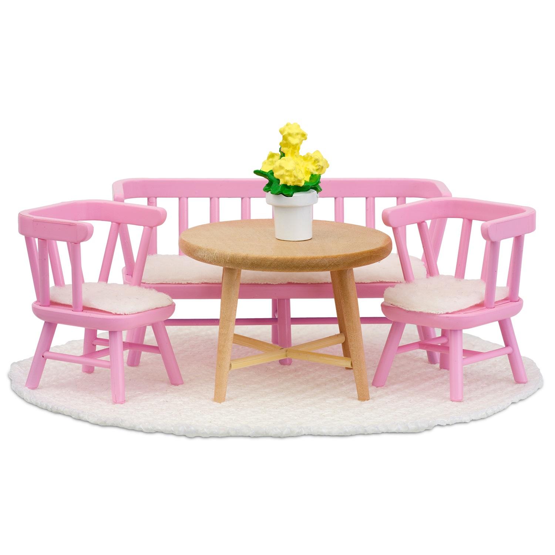 Кукольная мебель Смоланд - Обеденный уголок розовый