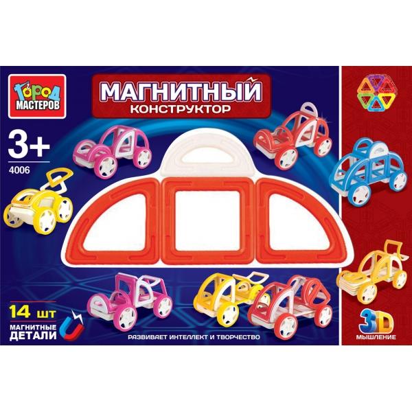 Магнитный конструктор, 14 деталейГород мастеров<br>Магнитный конструктор, 14 деталей<br>