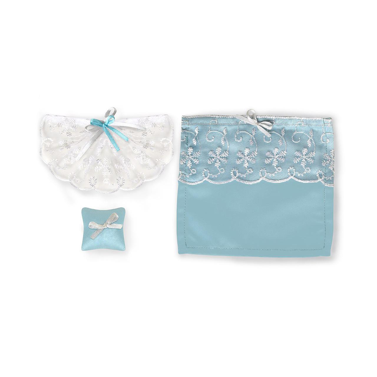 Набор текстиля для дома - Одним прекрасным утром™ - Голубое небо, шторы, покрывало для кровати, подушкиКукольные домики<br>Набор текстиля для дома - Одним прекрасным утром™ - Голубое небо, шторы, покрывало для кровати, подушки<br>