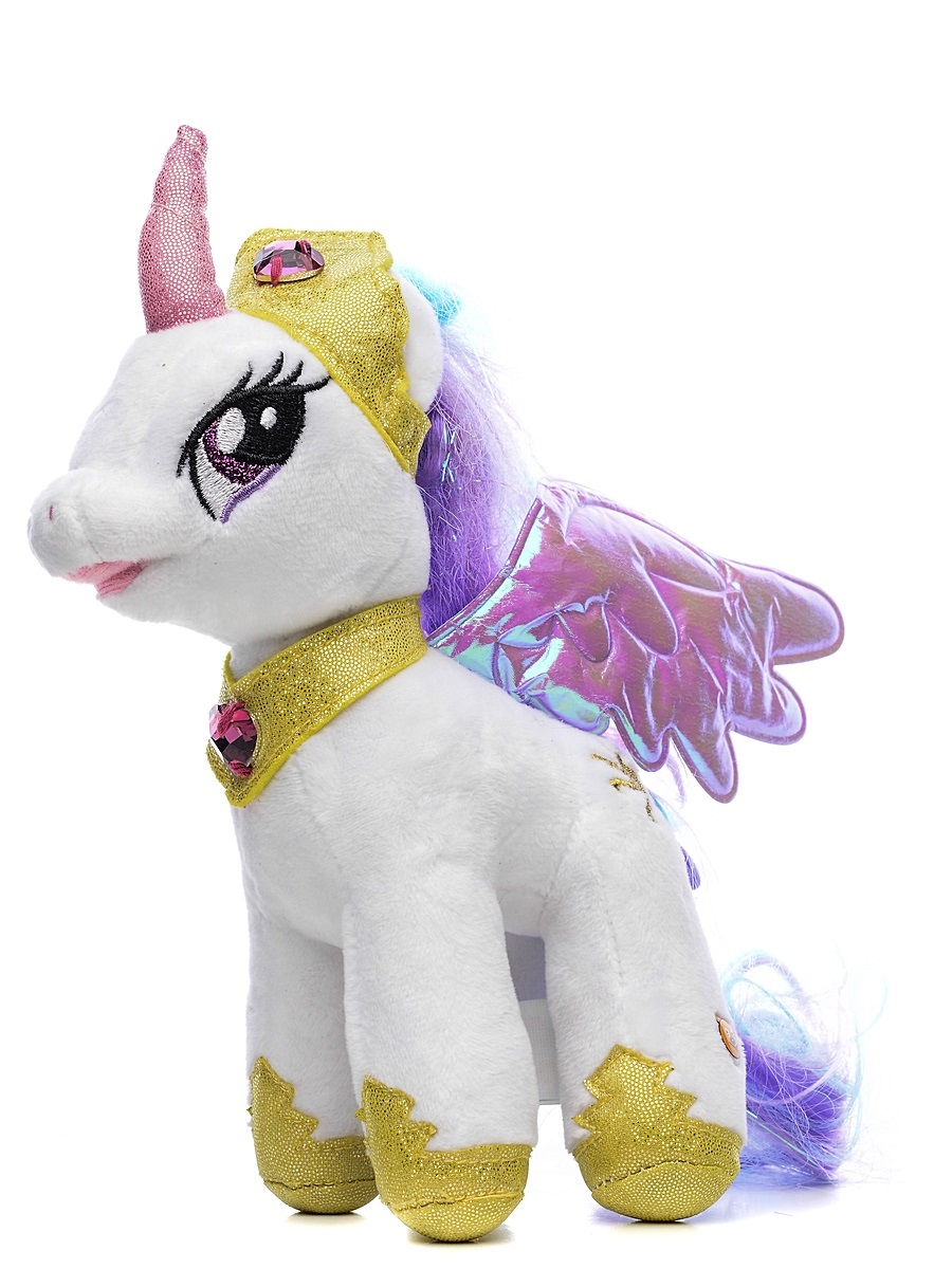 Мягкая игрушка пони Принцесса Селестия из мультфильма «My Little Pony», 18 см., озвученнаяМоя маленькая пони (My Little Pony)<br>Мягкая игрушка пони Принцесса Селестия из мультфильма «My Little Pony», 18 см., озвученная<br>